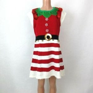 United States Sweaters Christmas Elf Sweater Dress